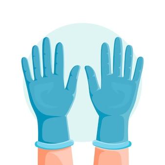 Concept de gants de protection