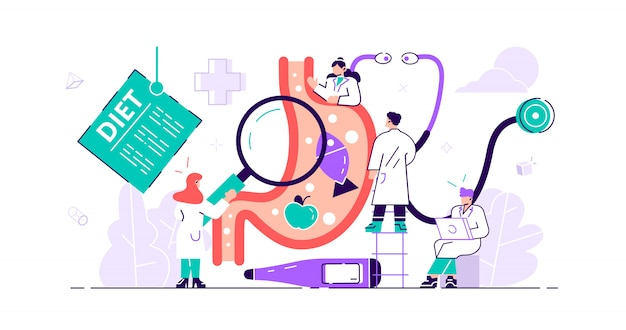 Concept de gastroentérologie. médecin de l'estomac