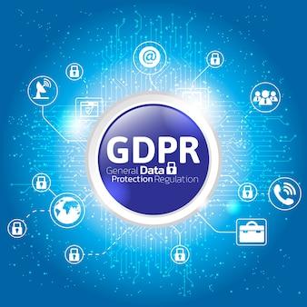 Concept général de réglementation de la protection des données.