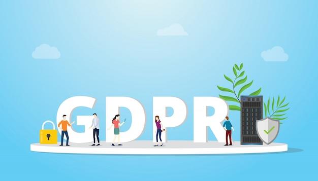 Concept général de régulation de la protection des données gdpr