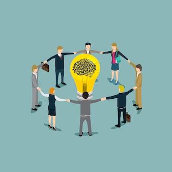 Concept de gens d'affaires idée concept d'isométrique