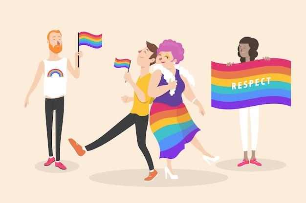 Concept de gens de fierté