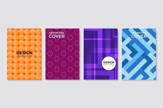 Concept géométrique abstrait pour la collection de couvertures