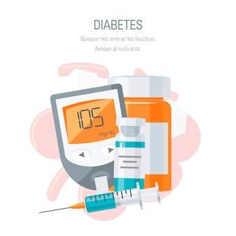 Concept de gestion du diabète.