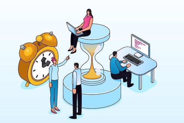 Concept de gestion du temps de contour isométrique