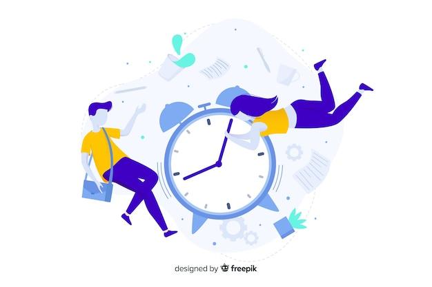 Concept de gestion du temps pour la page de destination