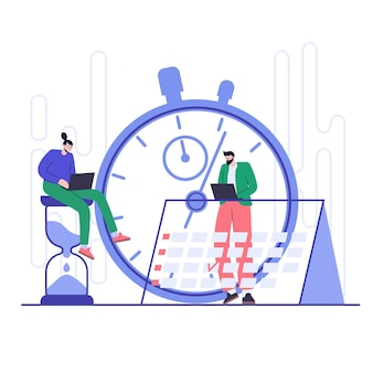 Concept de gestion et de planification efficaces du temps. organisation du flux de travail.