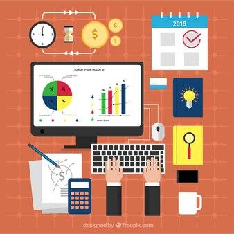 Concept de gestion de projet plat