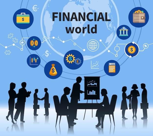 Concept de gestion réussie du monde des affaires financières