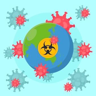 Concept de globe de coronavirus