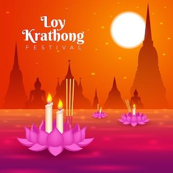 Concept de gradient loy krathong