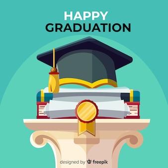 Concept de graduation classique avec un design plat