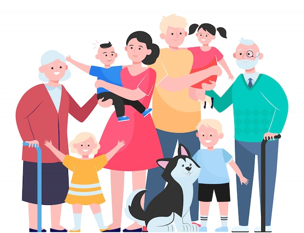 Concept de grande famille