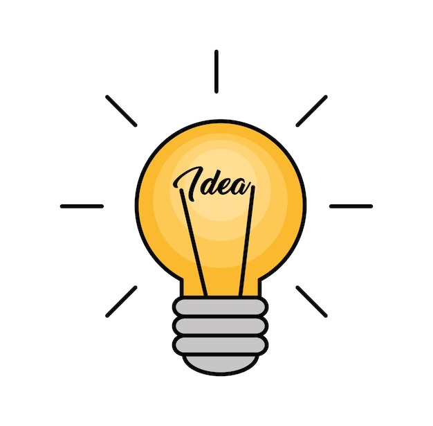 Concept de grande idée de lumière ampoule