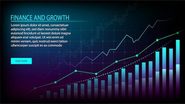 Concept graphique de gestion financière