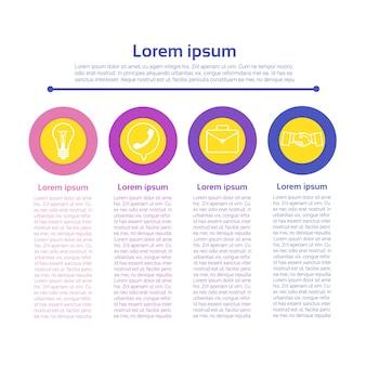 Concept graphique graphique infographie icône concept commercial