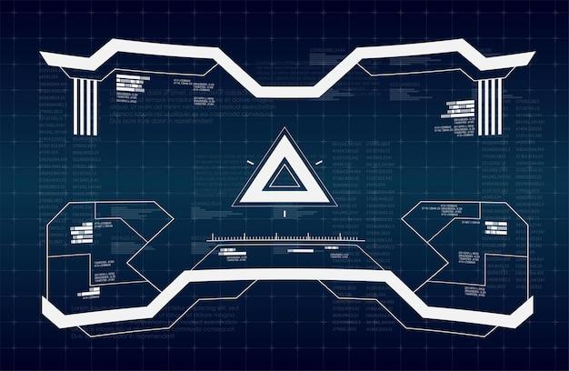 Concept de graphique virtuel comme interface hud futuriste