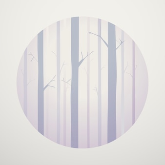 Concept graphique de woody forest