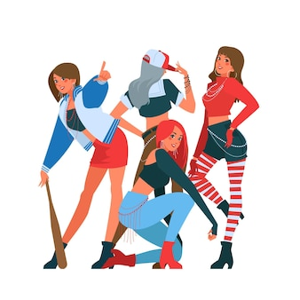 Concept de groupe de filles k-pop