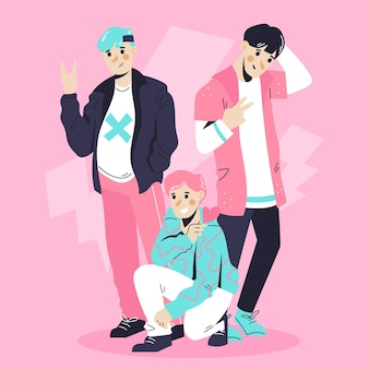 Concept de groupe de garçons k-pop
