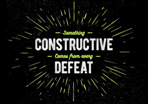 Concept grunge avec une phrase d'inspiration. citation de motivation créative.