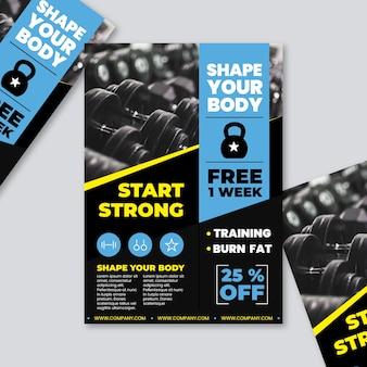 Concept de gym brochure sport