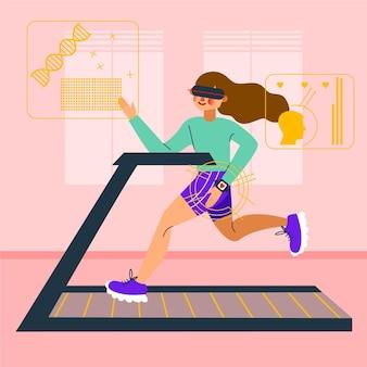 Concept de gym virtuelle