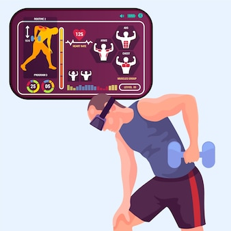 Concept de gym virtuelle