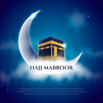 Concept de haji de pèlerinage islamique réaliste