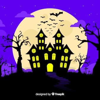 Concept d'halloween avec un design plat
