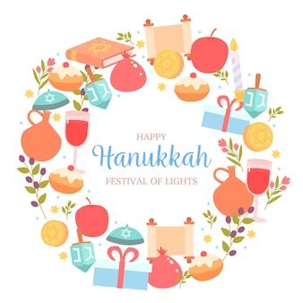 Concept de hanoucca design plat
