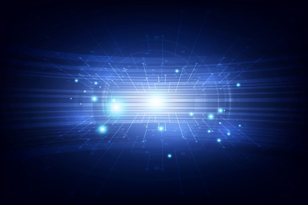 Concept de haute technologie numérique abstrait vecteur connexion bleue futuriste