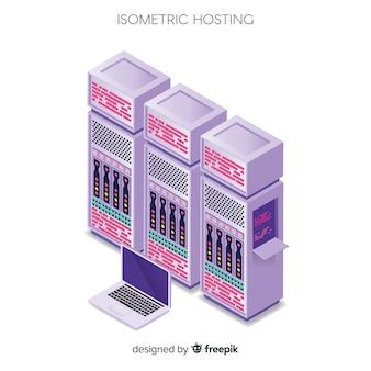 Concept d'hébergement isométrique