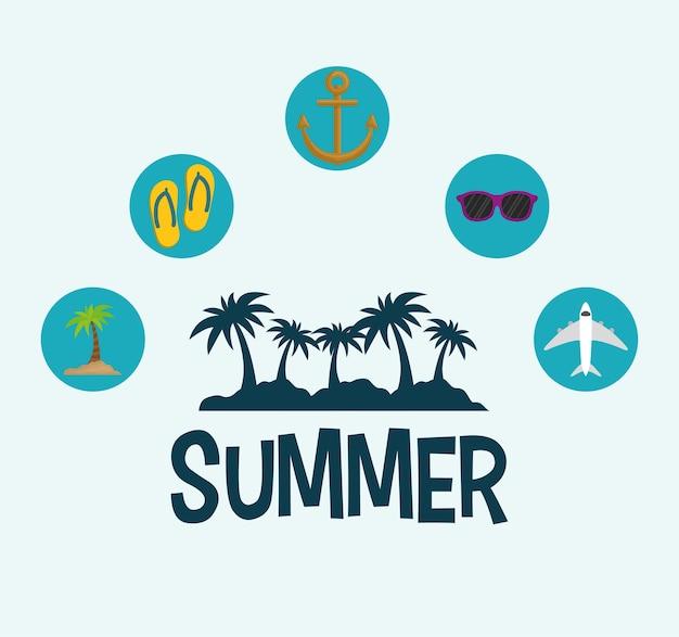 Concept d'heure d'été avec l'icône