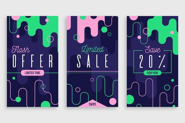 Concept d'histoires de vente instagram coloré abstrait