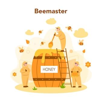 Concept d'hiver ou d'apiculteur