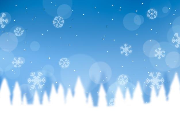 Concept d'hiver avec un arrière-plan flou