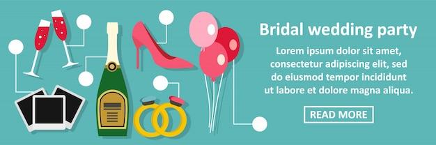 Concept horizontal bannière mariage fête de mariage