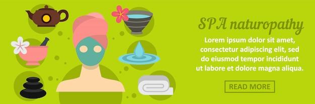Concept horizontal de bannière naturopathie spa