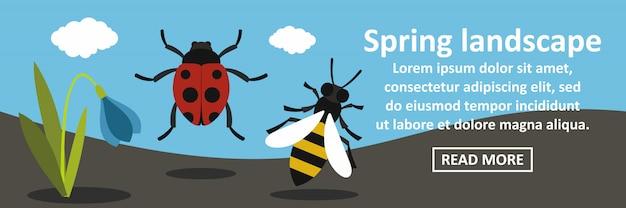 Concept horizontal bannière printemps paysage