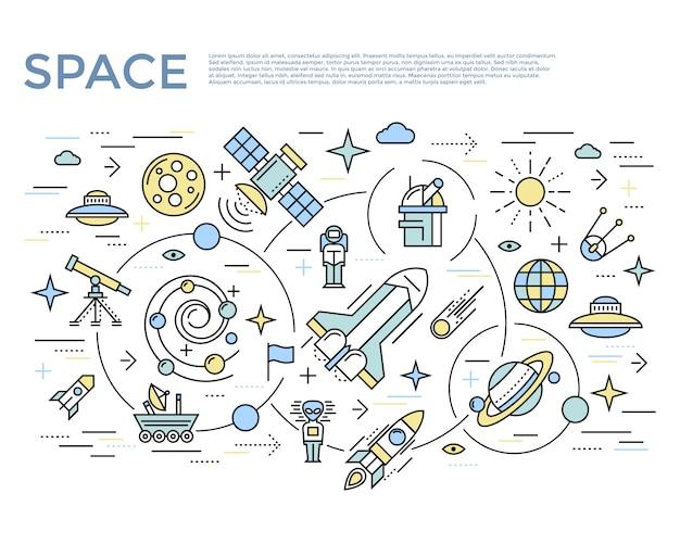Concept horizontal de l'espace