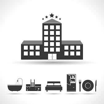 Concept hôtelier cinq étoiles
