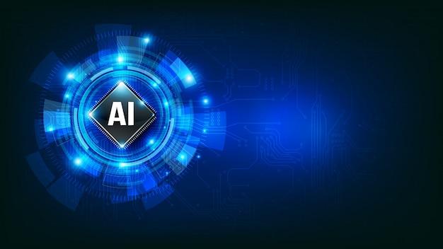 Concept d'ia de technologie futuriste