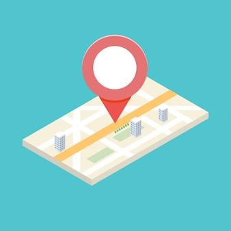 Concept d'icône gps isométrique pour application mobile. illlustration.