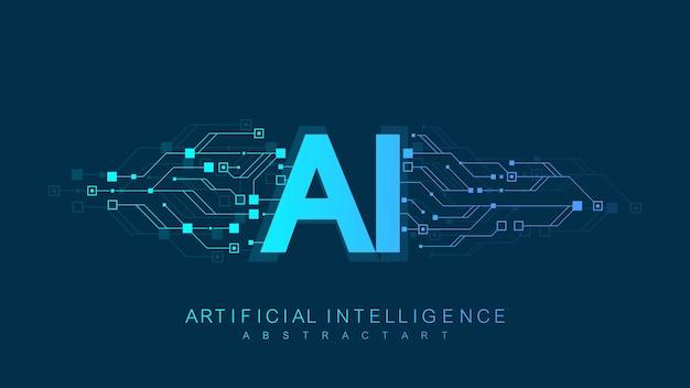 Concept d'icône de logo d'intelligence artificielle