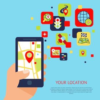 Concept d'icônes de navigation