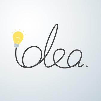 Concept d'idée ampoule