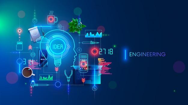 Concept d'idée d'ingénierie