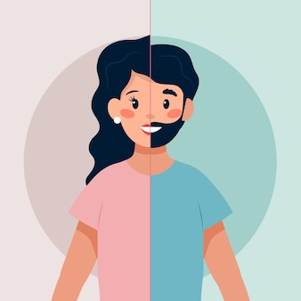 Concept d'identité de genre illustré
