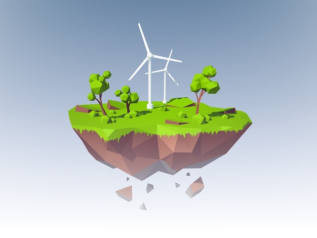 Concept de l'île d'écologie